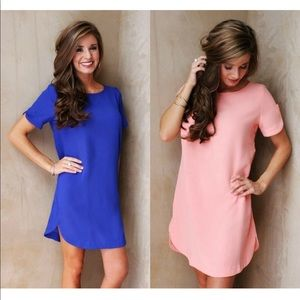 Hot Pink Vivid Color Shift Dress